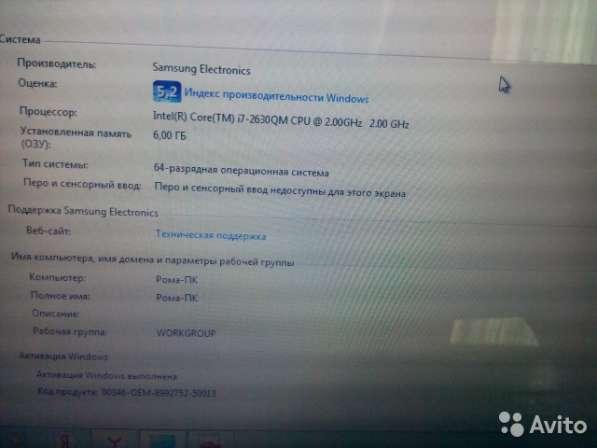 Ноутбук Samsung RC530 Intel i7-2630QM в Москве фото 4