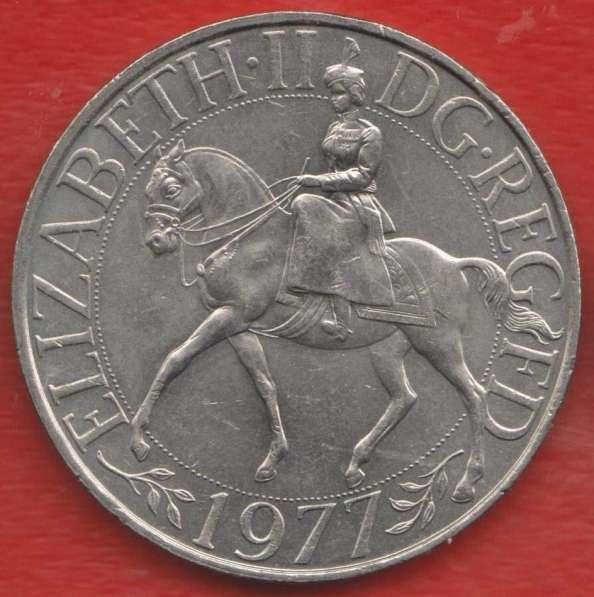 Великобритания Англия 25 пенсов 1977 г. коронация Елизавета