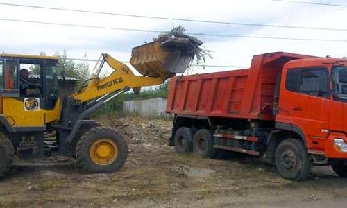 Уборка и вывоз мусора, грунта