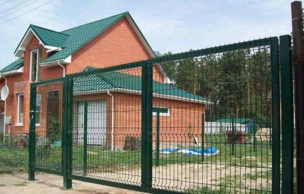 Ворота распашные из сварной 3Д сетки 1730х4000х4мм Выбор цвета RAL