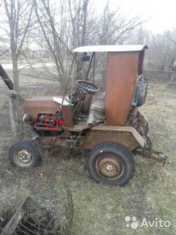 Самодельный трактор, прицеп, плуг, борона