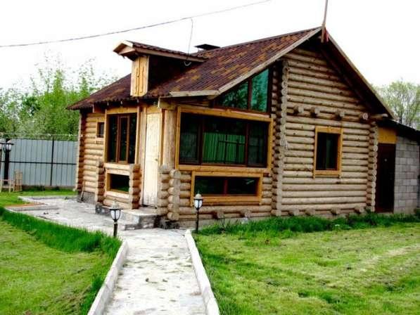 Срубы домов, бань из оцилиндрованного бревна в Омске