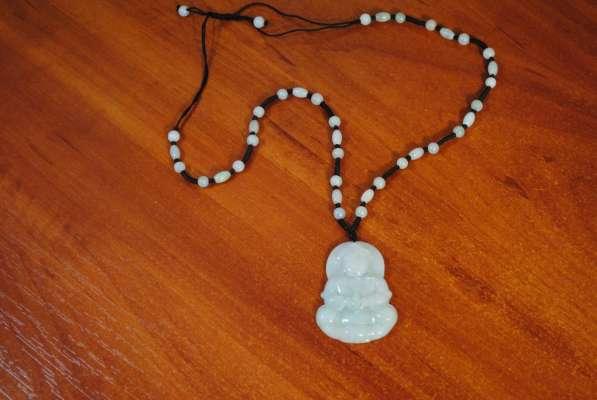 Ожерелье с кулоном * Будда * натуральный нефрит