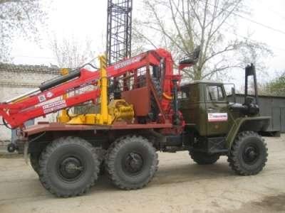 Лесовоз Урал 4320, с манипулятором Атлант С-100