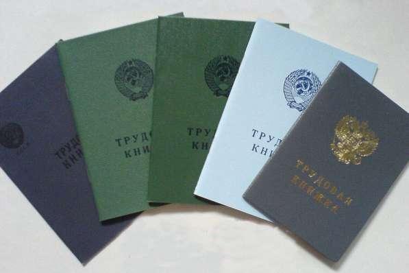 Трудовые книжки старого обрзца