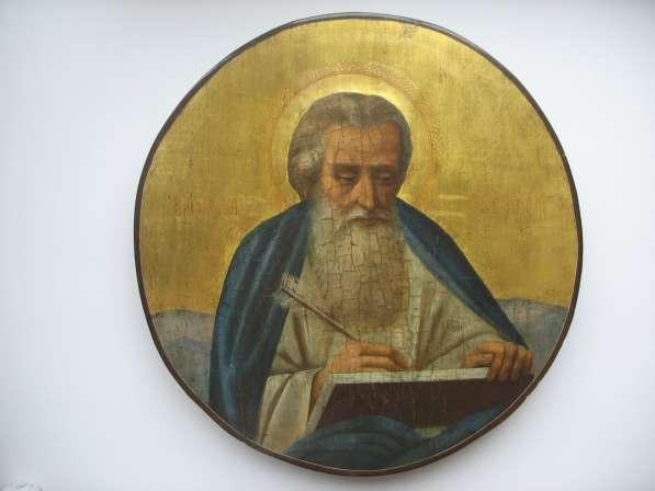 Икона круглая. На золоте. Святой апостол и евангелист Матфей