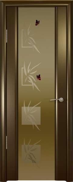 Дверь межкомнатная Океан Шторм-3 Гламур Бабочки, шпон венге