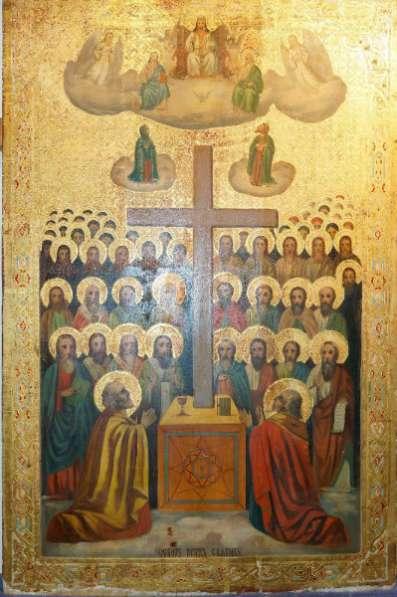 Икона храмовая «Собор Всех Святых». 19 в Северная школа
