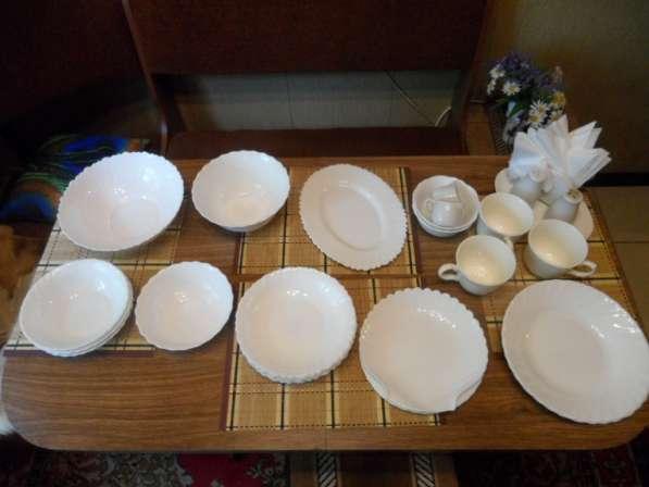 Замечательные посуда из белого фарфора+ стеклянная в Санкт-Петербурге фото 10