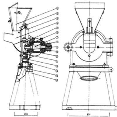 Молотковая дробилка МДЗ-250