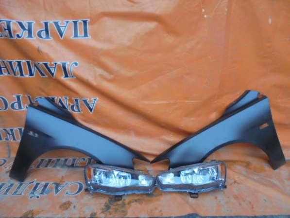 Комплект передние крылья+ фары ксенон для Mitsubishi LancerX