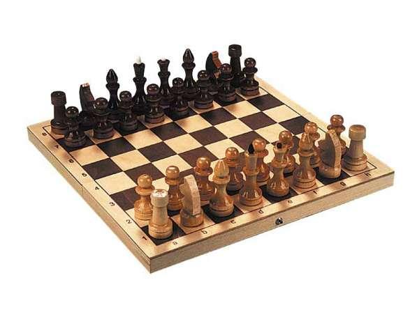 Шахматы лакированные Обиходные 290х145х38 новые с доставкой