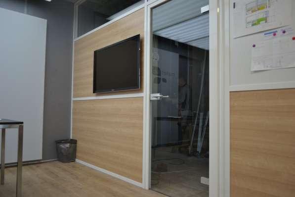 Стеклянные перегородки офисные, мобильная перегородка в Екатеринбурге фото 7