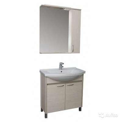 Шкаф с зеркалом+раковина+шкаф напольный инве-восток