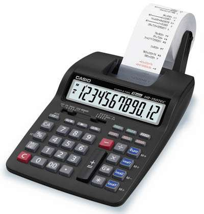 Калькулятор Casio HR-150TEC-W-E-EH аналог Citizen121n