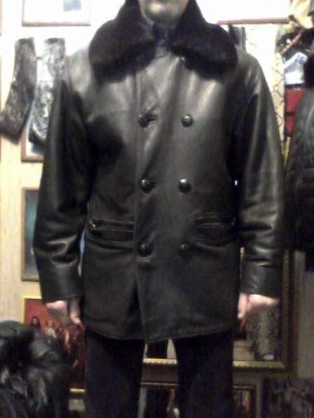 Продаю куртку кожаную мужскую с подстёжкой и воротом из меха