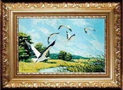 Картина маслом : подарок на свадьбу и т. RIKO