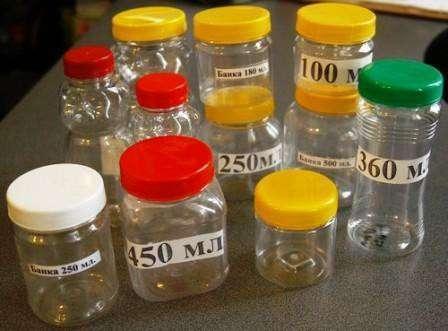 Банки ПЭТ пластиковые 90, 100,150,180,250, 450,500,650 мл