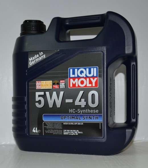 Масло Liqui Moly Optimal Synth 5W40 синтетика 4литра