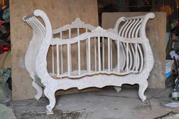 Кроватка детская (эксклюзивная, сосновая)