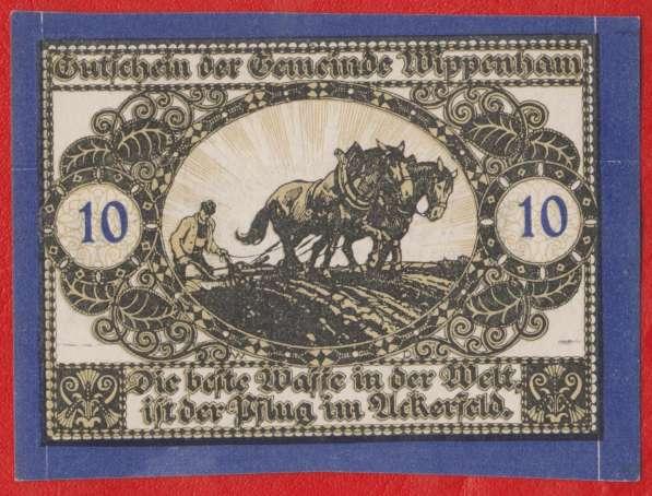 Австрия Виппенхам нотгельд 10 геллеров 1920 г.