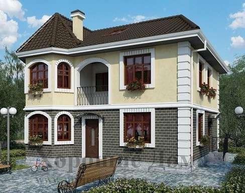 Строительство дома из газобетона 9.5x10 142 кв. м