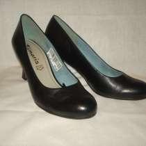 Туфли кожаные черные новые 37 р-р Tamaris куплены в Германии, в г.Волжский