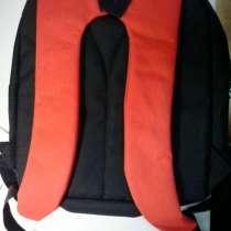 Рюкзак черный с красным. два отделения., в Москве