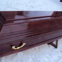 Лакированный гроб ритуальный крест, в г.Полоцк