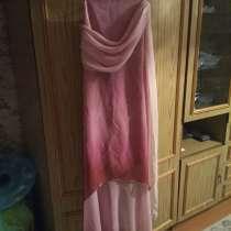 Продам розовое платье с золотистым отливом, в Волгограде