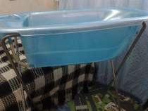 Ванночка детская голубая с подставкой удобная, в Благовещенске