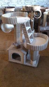 Домик для кота, кошки, котёнка с когтеточкой, в Барнауле