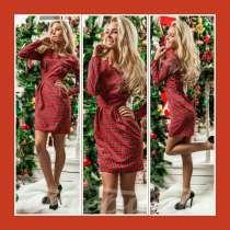 Платье красное клетчатое, в Санкт-Петербурге