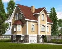 Строительство дома из газобетона 8.7x11.5 192.7 кв. м, в Москве