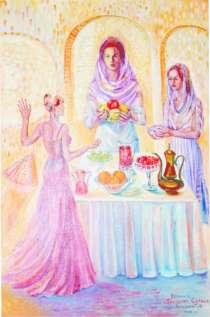 """Продаю живописную картину: """"Встреча с Богинями Солнца""""-2003, в г.Алматы"""