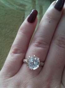 Супер кольцо золото бриллиант большой топаз 4.5 кт, в Калининграде