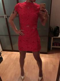 Красное платье цветы, в Екатеринбурге