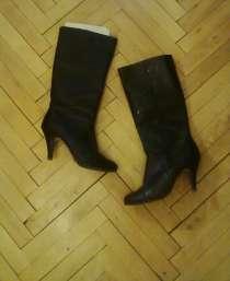 Классические черные кожаные сапоги, в г.Киев
