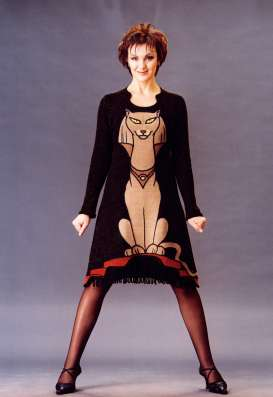 """Короткое вечернее платье """"Статуя египетской кошки"""""""