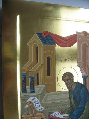 Икона храмовая. Евангелист Матфей. На золоте в Москве Фото 3