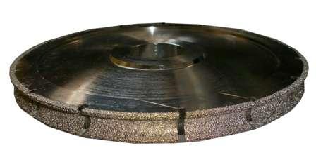 Фреза HXDW005 Electroplated канелюрная профиль V d300хh22х60мм grit 30/40