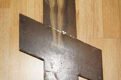 Старый русский поклонный крест. 19 век