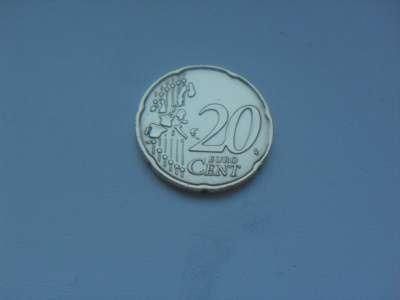 Монета 20 Евро Центов 2002 год Италия