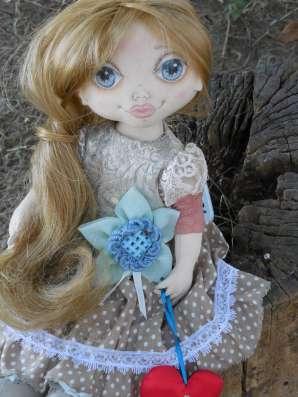 Куколка текстильная ручной работы Лика!