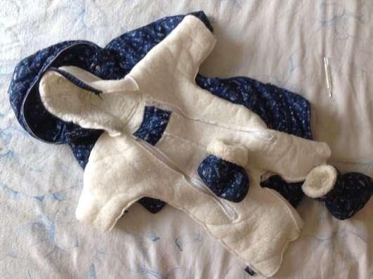 Комбинезон детский с шерстяной подстежкой, зима/ демисезон