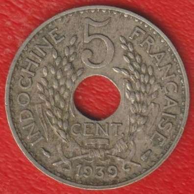 Индокитай Французский 5 центов 1939 г. в Орле Фото 1