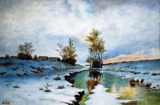 "Картина маслом ""Закат зимы"""