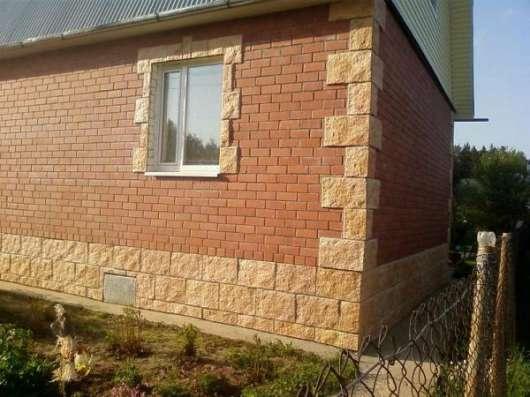 Отделка фасадов домов искусственным камнем в Чите