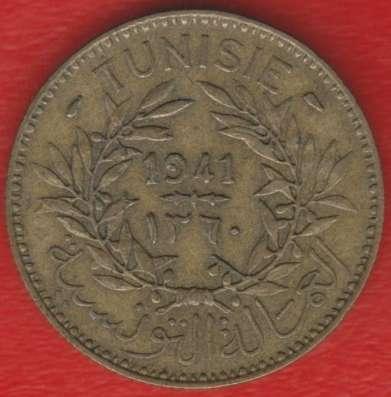 Тунис Французский 2 франка 1941 г.