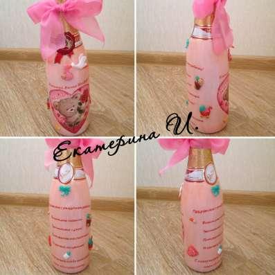 Бытылка шампанского на рождение ребенка